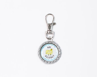 food allergy, allergy tags, dairy allergy, allergy jewelry, allergy accessories, soy allergy