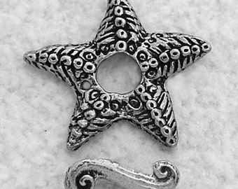 Green Girl Studios Pewter Starfish Toggle Clasp