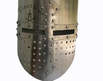 Medieval sugar loaf helmet larp and role play helmet