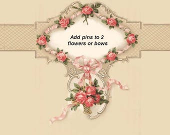 Add PINS to TWO Flowers or Bows