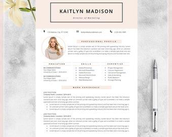 Resume Template, CV Template for MS Word, Creative Resume, Modern Design, Teacher Resume, Instant Download