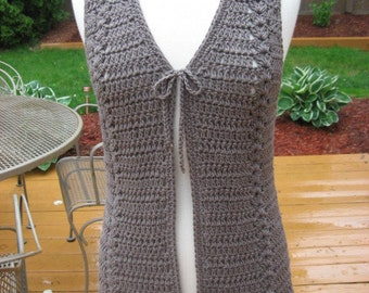 Crochet Pattern, Meadows Vest with Matching Belt, crochet Pattern Pdf, Instant download available