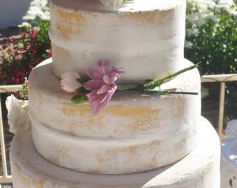 Semi-naked 3 tier fake cake, fake cakes