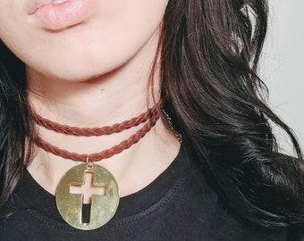 Golden Cross Choker