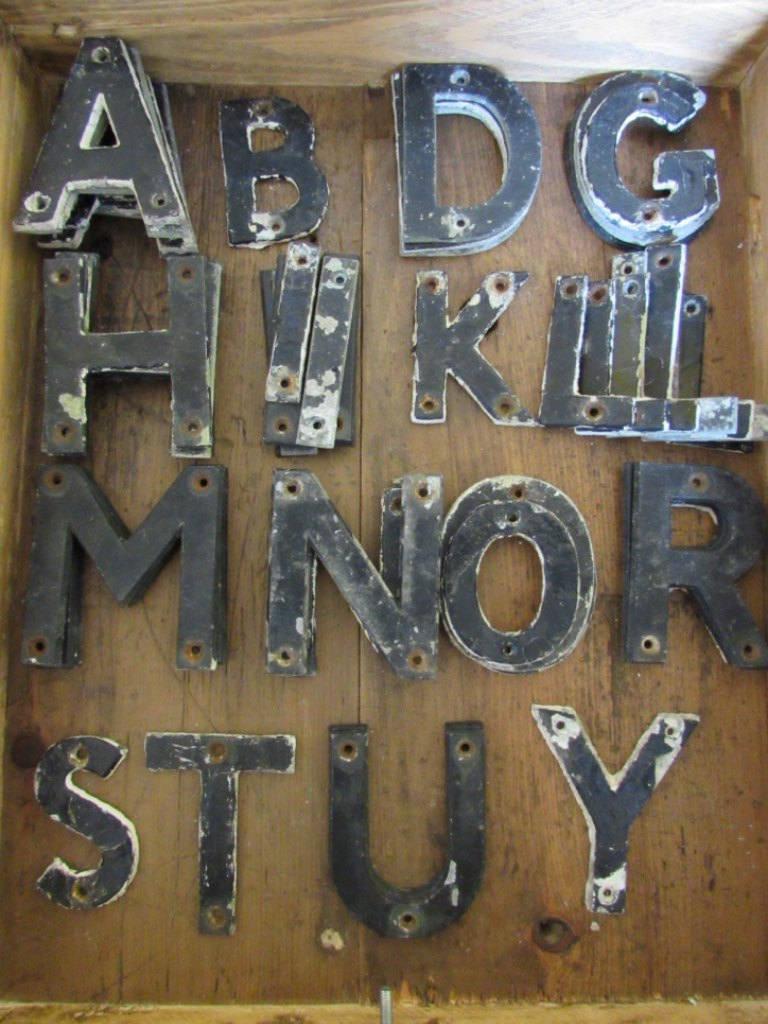 Old Metal Letters Vintage Metal Aluminium Letters Metal Letters Vintage Metal