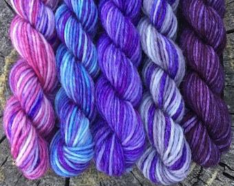 Quirrell's Turban Mini Sock Yarn Skeins - 25 yds each - Harry Potter Miniskein Set