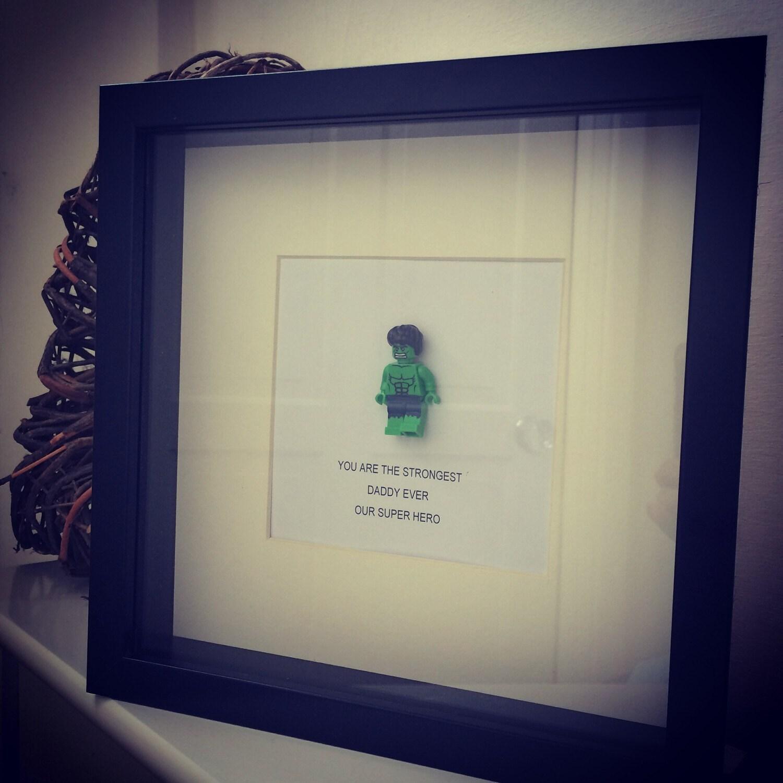 Lego mini figure HULK or spiderman or superman personalised gift ...