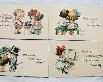 Vintage Postcard Lot Twelvetrees Set of 4 Signed
