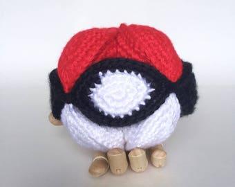 Pokésphere puzzle boule, crochet à la main || Prêt pour l'expédition