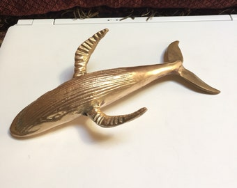 Brass Whale Paperweight