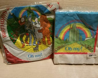 Vintage Paper Art Wizard of Oz Party napkins and balloon