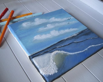 Chart Sea oil painting landscape decoration wave wall House Gift