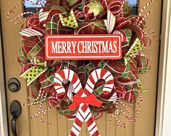 Christmas Wreath ~ Christmas Deco Mesh Wreath