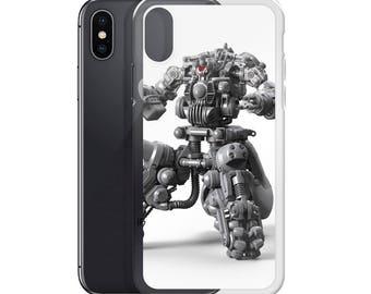 iPhone X Case, iPhone 6/6S, iPhone 7/7+ Cases ,Case iPhone 8/8+ Case Sentry Robot Design