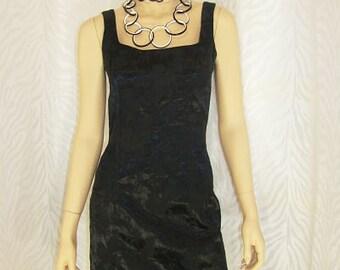 Black Brocade Mini Dress