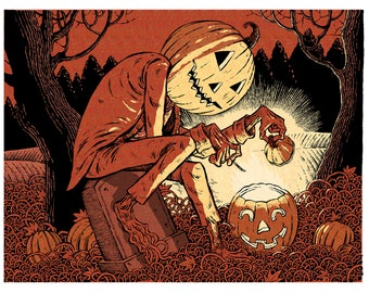 Lantern Jack Header Art Giclee // Edition of 31