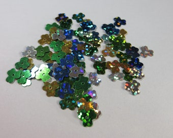 Small 3 Leaf Clover Sequins - Hologram Type, Mixed colors