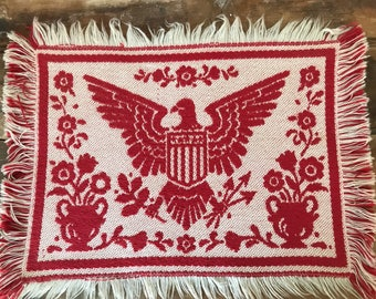 Patriotic Placemat * Red Woven Placemat * Eagle * Federal * Colonial * Williamsburg * Americana * Reversible