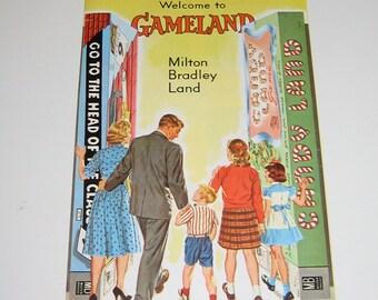 Vintage Milton Bradley 'Gameland' Brochures 1961