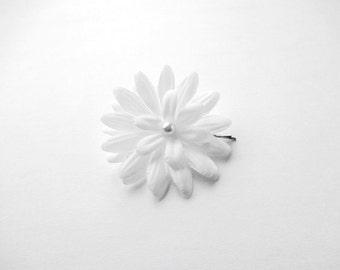 Bridal White Daisy  Hair Pin