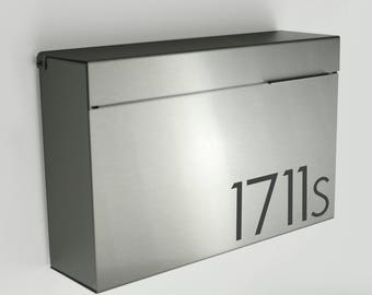 modern wall mount mailbox. Modern Mailbox XL ALEXYS S- Stainless Steel, Large, Wall Mounted Mailbox, Contemporary Mount