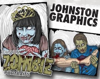 Custom Zombie Portrait / Print