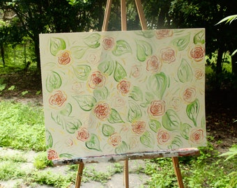 Watercolor Rose Painting
