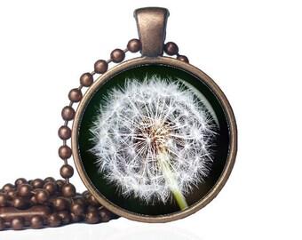 Dandelion Wish Necklace - Dandilion Pendant - Dandilion Necklace - Dandelion Wish Pendant - Wish Necklace - Wish Pendant -Dandelion Necklace