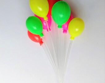 Miniature Balloons, Fairy Garden Balloons, Dollhouse Balloons, Fairy Garden Accessories, Fairy Garden Miniatures