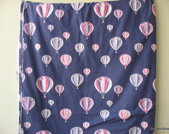 Blue Parachute Print Chambray Fabric Extra WIde - by Yard