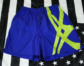 Vintage 90s Asics running shorts Size XL Track and Field Big Logo Gel Lyte