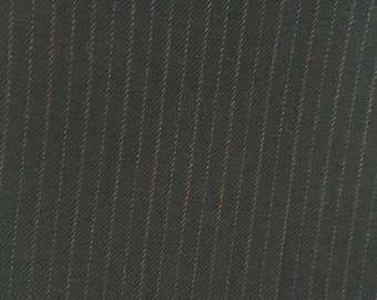 Navy Blue Pinstripe Fabric - 3+ yards