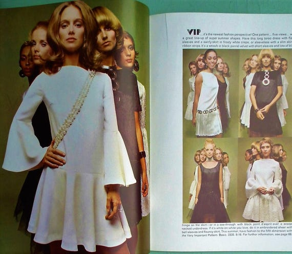 Vintage Vogue Pattern Book International Summer 1970 - 70s Sewing ...