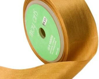 Antique Gold  silk ribbon, vintage like silk ribbon, small, simple, elegant ,wedding diy decor farmhouse,romantic