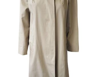 BURBERRY Beige Garbadine Unbelted Trench Coat