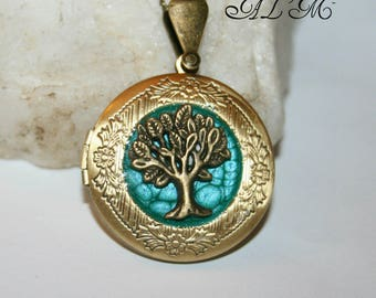Tree of life pendant for picture with Turquoise (p)