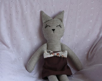 Doll cat toy made by hand, minimalist doll, toy, gift