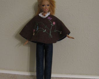 Barbie doll clothes-poncho