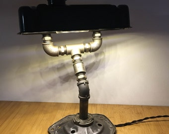 Desk Lamp, Industrial Design, Rocker Cover Lamp, Mini Car Parts Lamp.