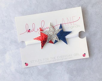 4th of July Headband - First 4th of July - Red White and Blue Baby Headband - Baby Star Headband - Baby Headband - Star Headband