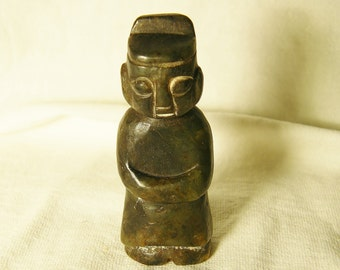 Old Chinese Jade Figurine Amulet, Hand-carved/ Statuette