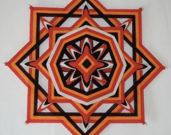 100% Donation - Native Healing - Ojo de Dios - Yarn Mandala