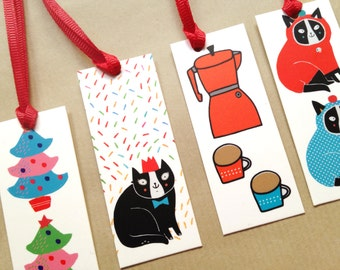 Winter gift tag set - illustrated gift tag set of 8