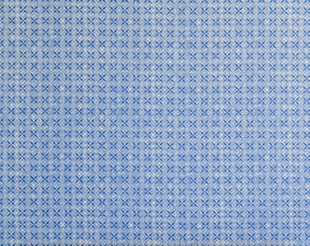 Quilting Fabric Porcelain Blue Geo Fabric From Fabri-Quilt 100% Cotton