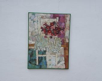 1963  Sonia Mitrovich  Impasto Still Life  Oil Painting .