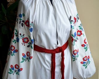 hand made ukranian embroidery dress