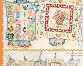 Whimsical Stitchery PATTERN - Salem Quilt Guild's Show and Tell - CAH349