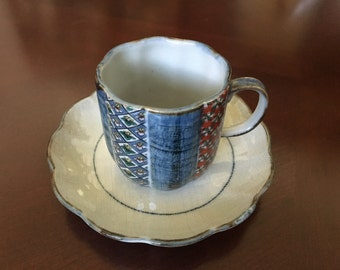 Kutani cup and saucer from Japan.