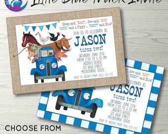 Little Blue Truck Invitation, Little Blue Truck Invite, Little Blue Truck Party, Little Blue Truck Birthday, Little Blue Truck Printable
