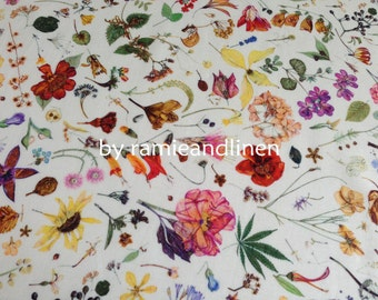 "LIBERTY cotton fabric,  Tana Lawn, floral print fine silky cotton fabric, half yard by 54"" wide"